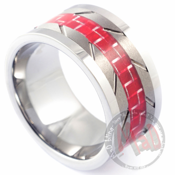 Tungsten Rings|RedlineTungsten Bands |MadTungsten.com.au