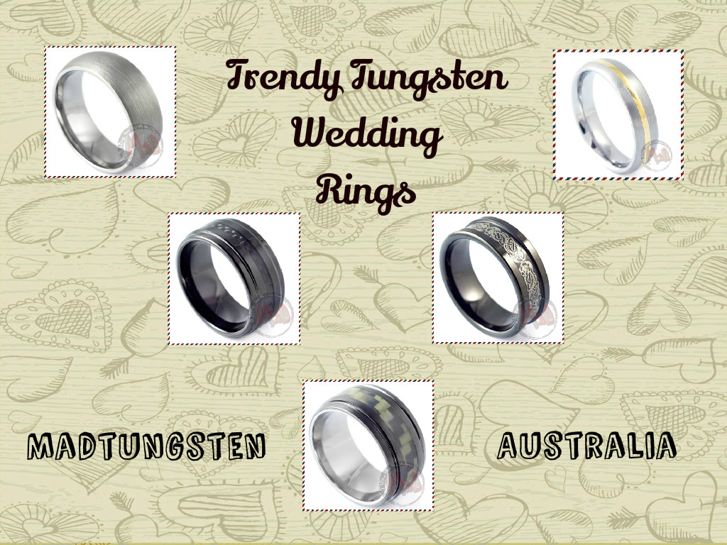 Trendy Tungsten Wedding Rings